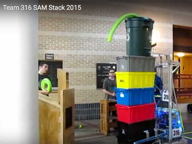 Team 316 SAM Stack 2015 Video