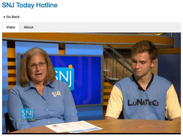 South Jersey Robotics on SNJ Today Hotline TV